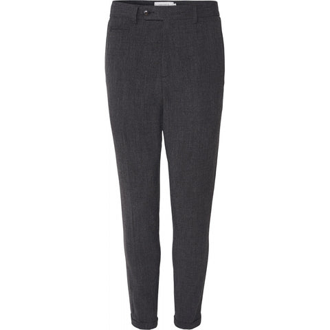 Como Melange Suit Pants charcoal