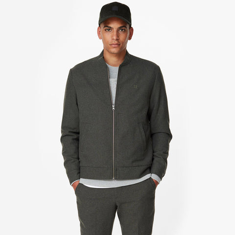 Marshall Wool Bomber Jacket deep forest