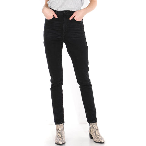 Ingaa High Waist Jeans washed down black
