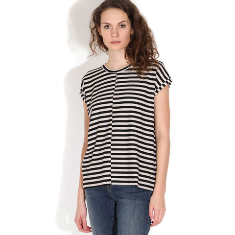 Jaarin Knitted Stripe Top kitt-black
