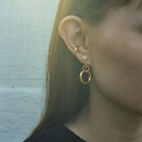 Twin Mini Ear Cuff gold