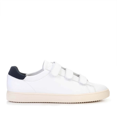 Bradley Leather Velcro white milled