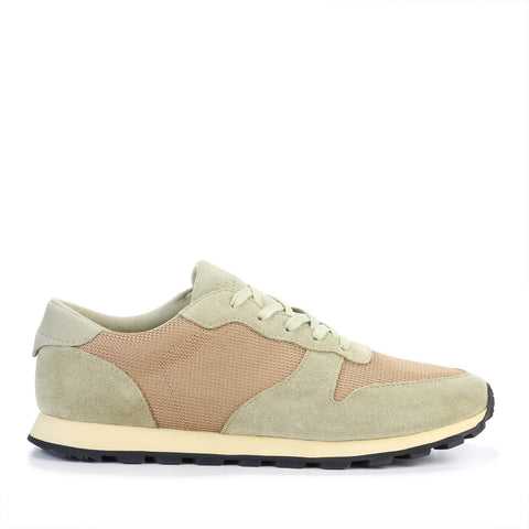 Hayward aloe green oyster tan suede