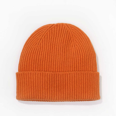 Merino Wool Beanie burned orange