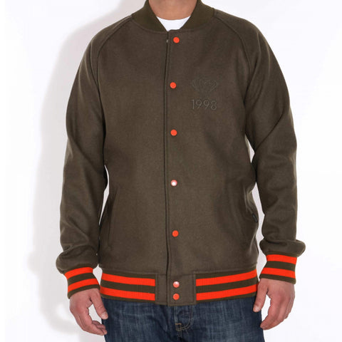 Diamond Brilliant 98 Varsity Jacke gruen/orange