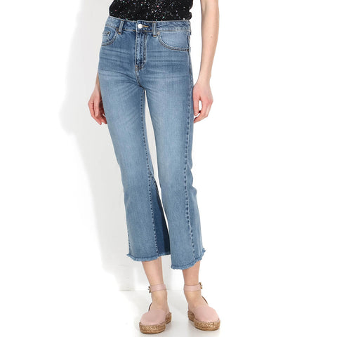 Genesis Jeans mid blue wedge