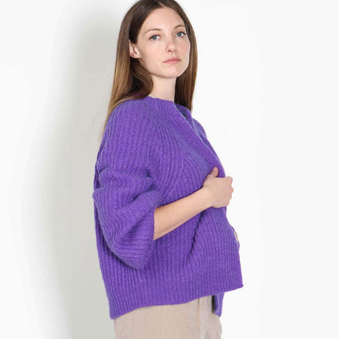 Batou Cardigan purple