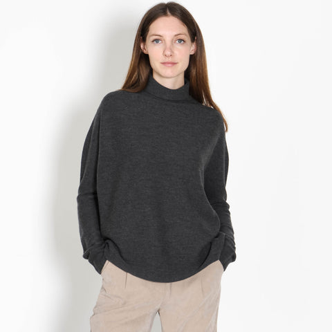 Liora Turtleneck Jumper dark grey