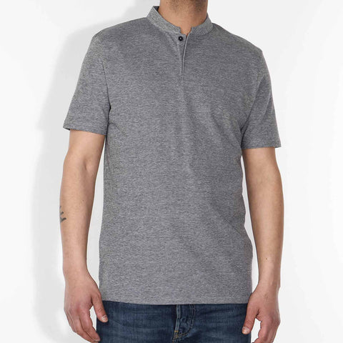 Louis Pique Poloshirt grey heather