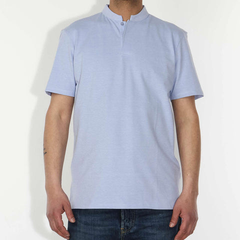 Louis Pique Poloshirt light blue heather