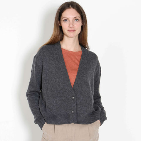 Sontje Knit Cardigan dark grey