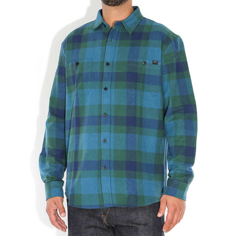 Labour LS Shirt blue/dark green garm