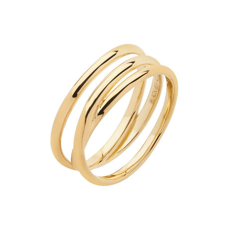 Emilie Wrap Ring gold