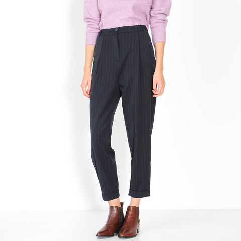 Malou Trousers navy wide pin