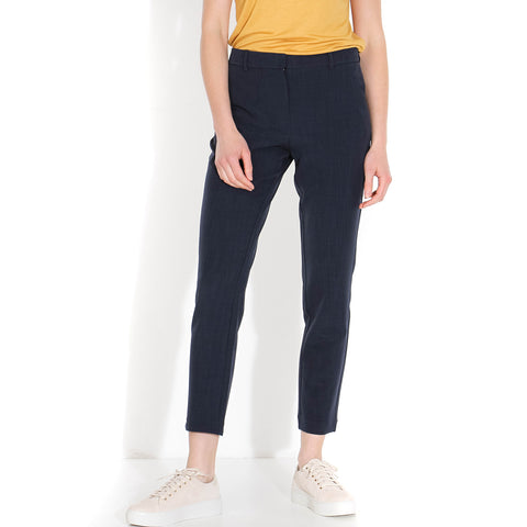 Kylie Crop 229 Pants navy melange