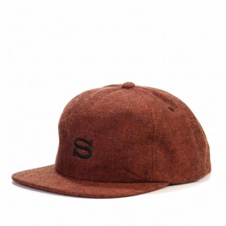 S Logo Herringbone Cap orange
