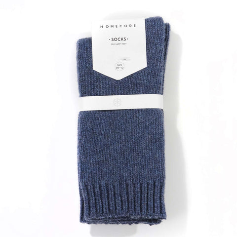 Lambswool Socks blue