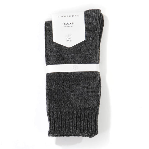 Lambswool Socks dark grey