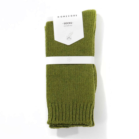 Lambswool Socks green