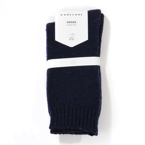 Lambswool Socks navy