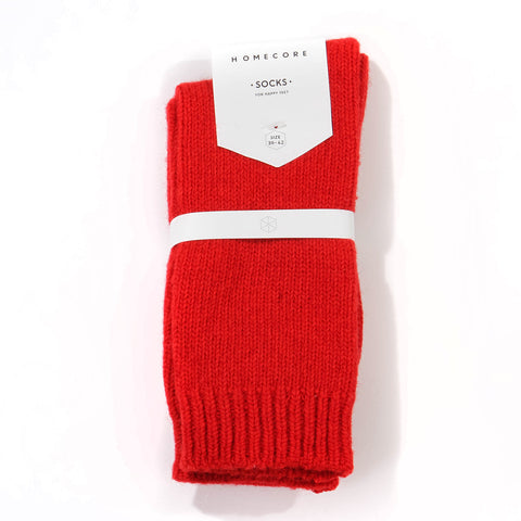 Lambswool Socks red