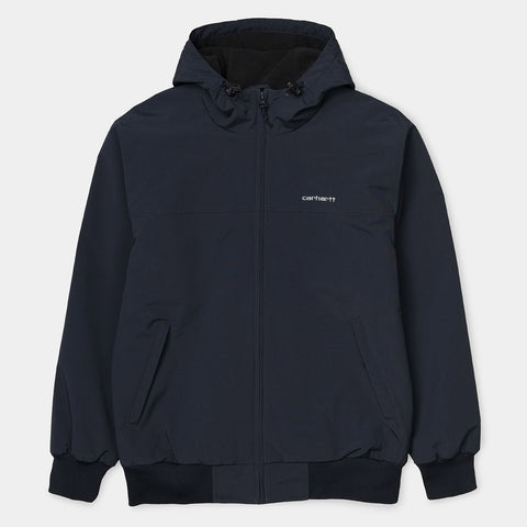 Hooded Sail Jacket black/white