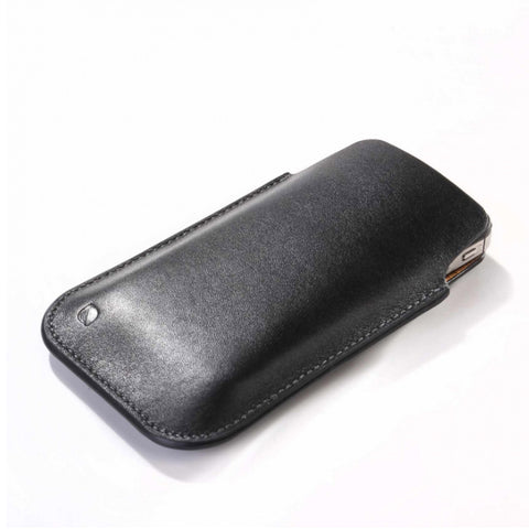 iPhone 5 Leather Pouch black-tan
