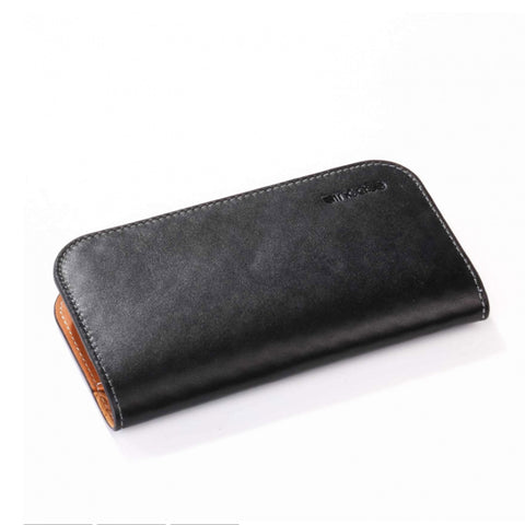 iPhone 5 Leather Wallet black-tan