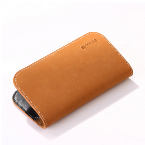 iPhone 5 Leather Wallet brown/tan
