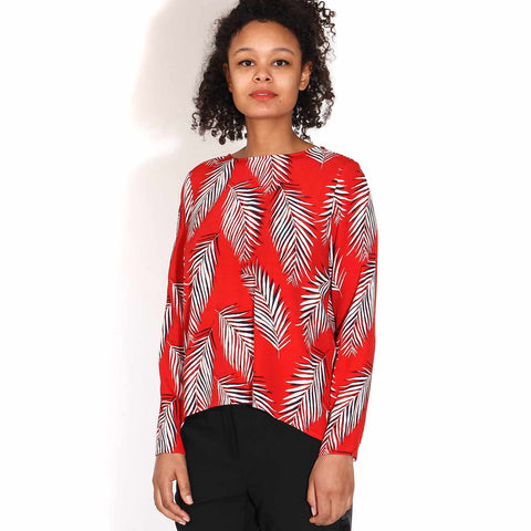 Maise Blouse leaf red