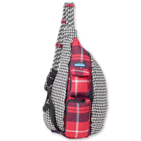 Rope Bag Mix houndstooth plaid