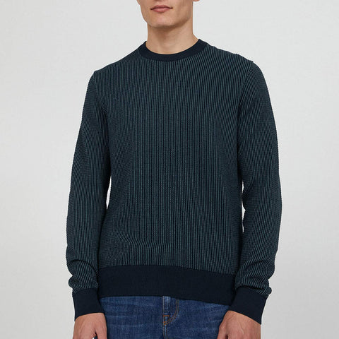 Laavo Knit depth navy-sea green
