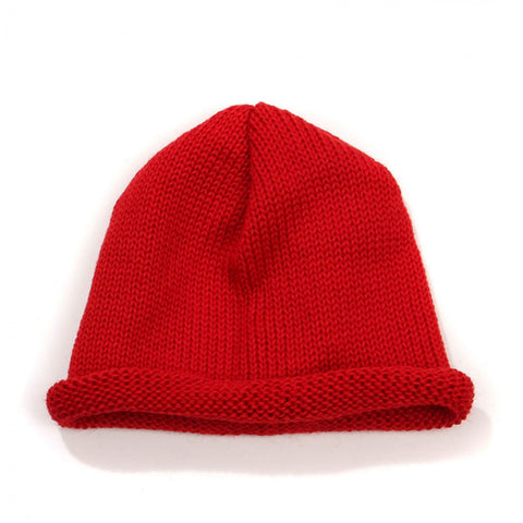 Roll Beanie red