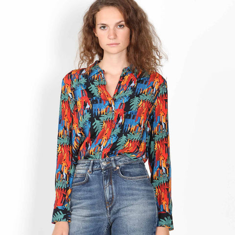 Asati Blouse leaves