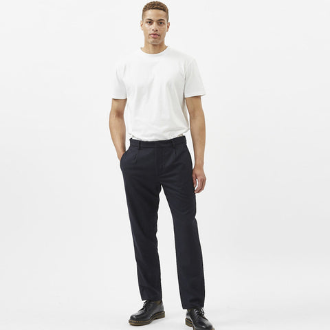 Maro Wool Pants dark saphire