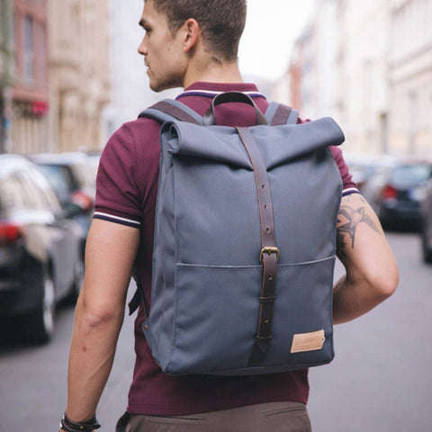 Alex 24h Backpack stone blue/dark brown