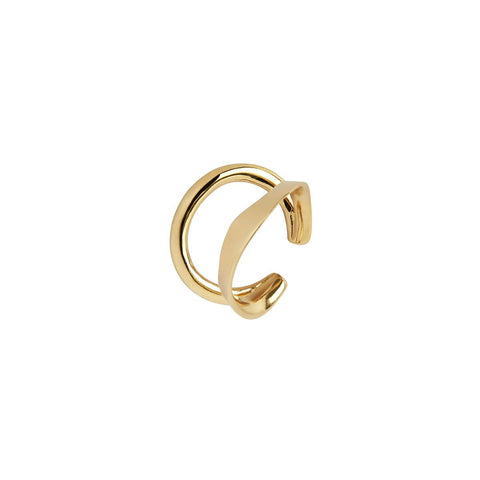 Ripples Ear Cuff gold