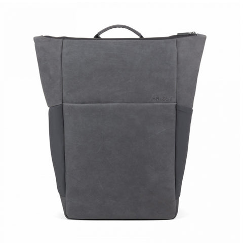 Vertiplorer Plain Backpack Leather Slate grey