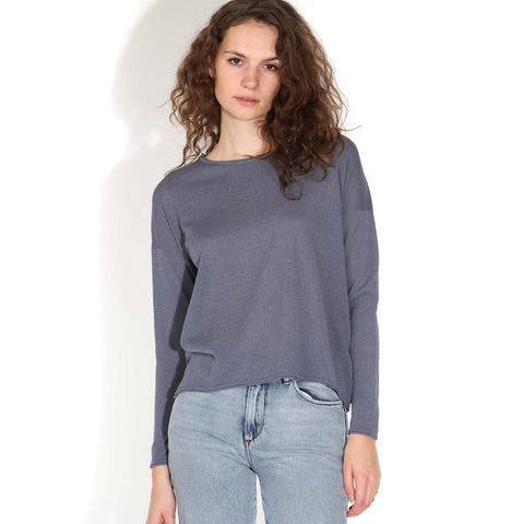 Kally O-Neck Jumper blue mirage