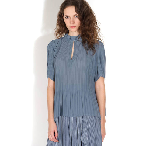 Lady SS Blouse blue mirage