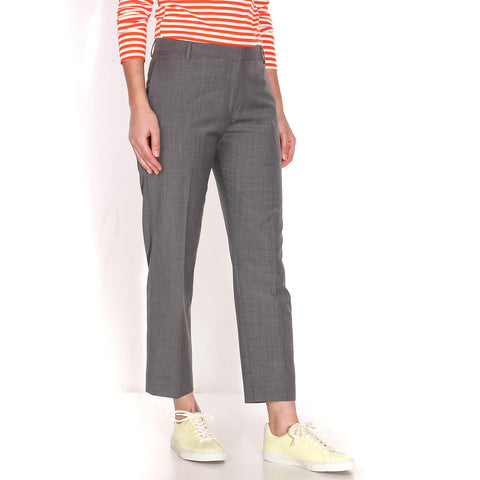 Lienne Crop Pants grey melange