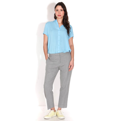 Louise Crop Pants grey melange