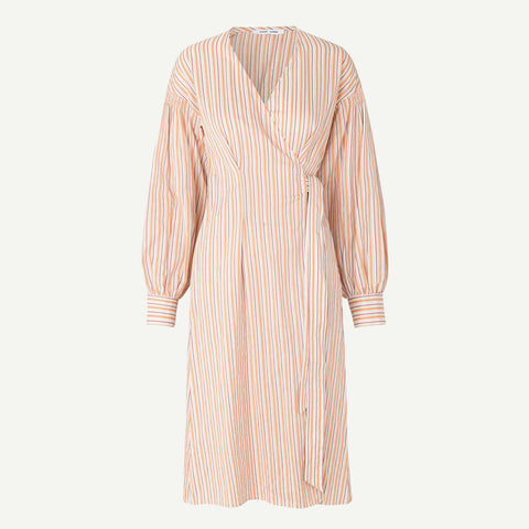 Merrill Dress coral stripe