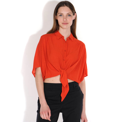 Alfassa Blouse mandarin red