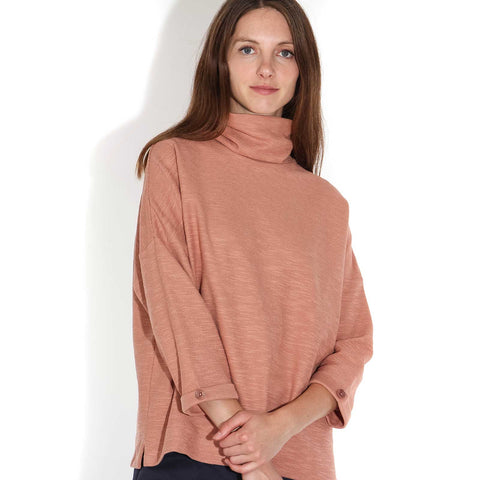 Janis 19 Rollneck Top cameo rose
