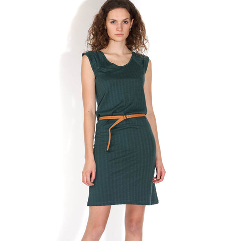 Rainbow Jacquard Dress june green
