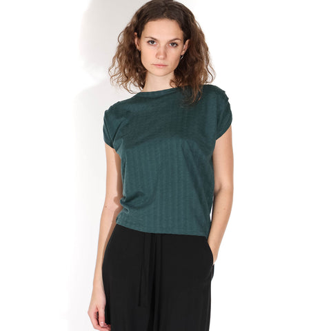 Sixto Jacquard Top june green