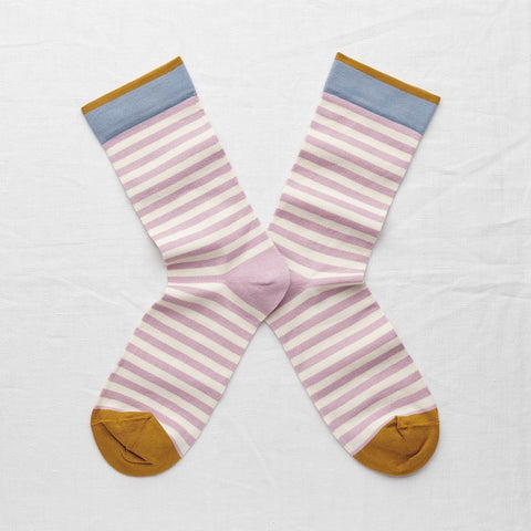 Rosewood Stripe Socks