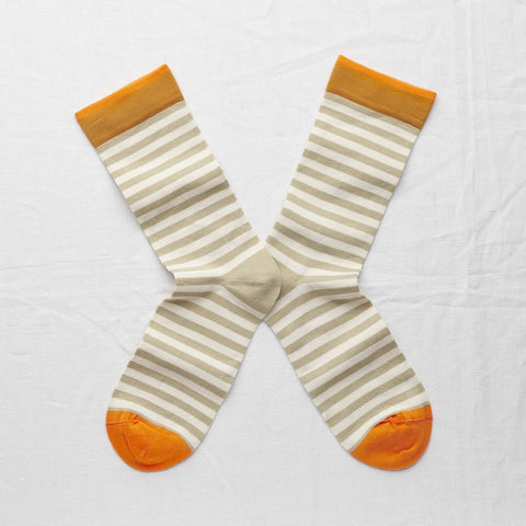 Sage Stripe Socks
