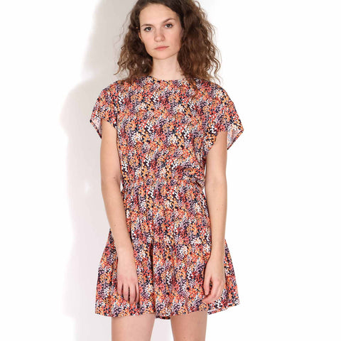 Ciel Printed Dress navy blue-red